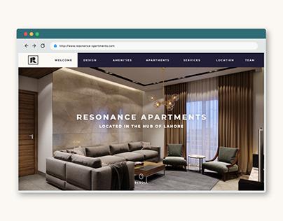 UI Landing Page - Lahore Resonance Apartments