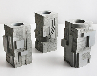 Concrete Square Vase Series / First Edition