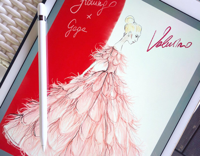 Flamingo dress Valentino