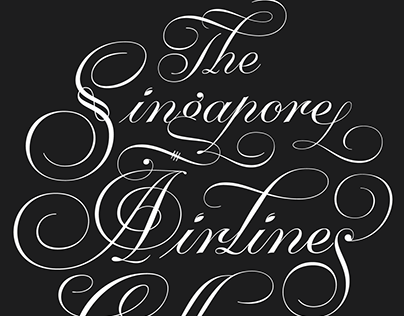 Singapore Airlines lettering work