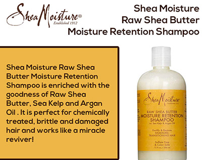 Shea Moisture Raw Shea Butter Shampoo - InfoGraphic