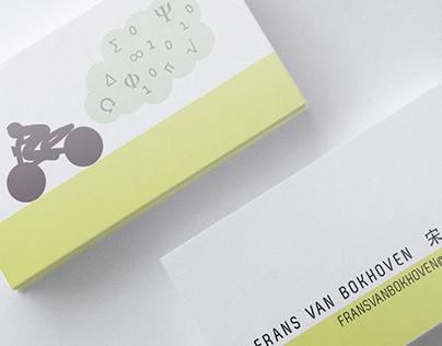 Business cards for a biker/scientist/thinker