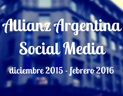 Allianz Argentina - Social Media Management