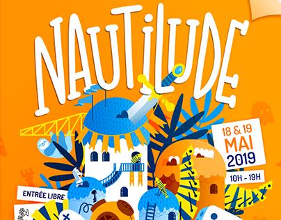 Affiche Nautilude 2019 - Salon du jeu à Nantes