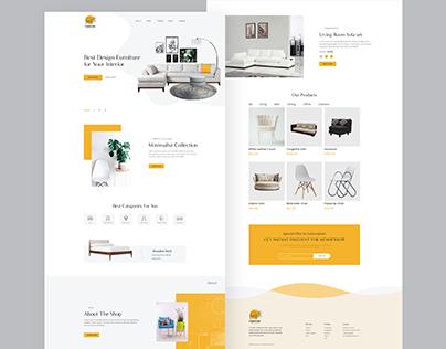 Ecommerce Furniture Web UI Design