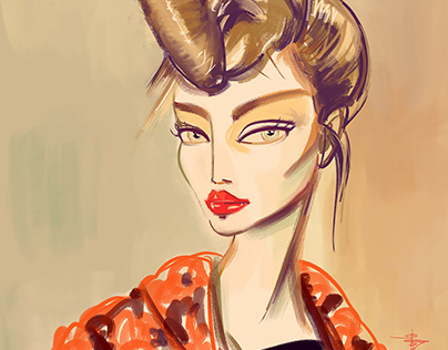 "Fashion Designer Illustration Series_""A"""