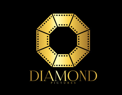 Diamond pictures creative logo branding design логотип