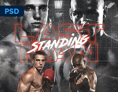 Boxing Fight Flyer - PSD Template