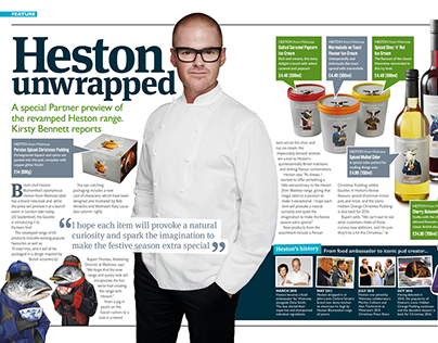John Lewis Gazette layout project for interview