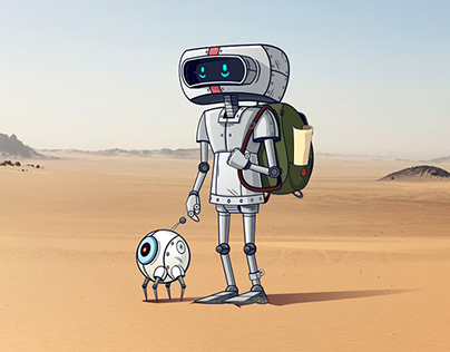 Robot in the desert