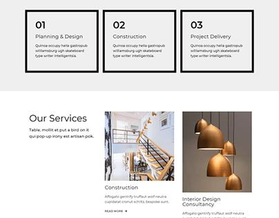 Interior, Studio website, service website | Wordpress