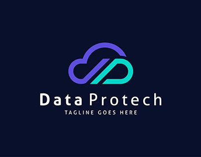 Cloud Data ProtectLogo Design - Cloud logo Monogram