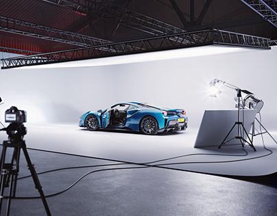 Ferrari 488 Pista White Studio