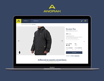 Redesign Anorak e-shop