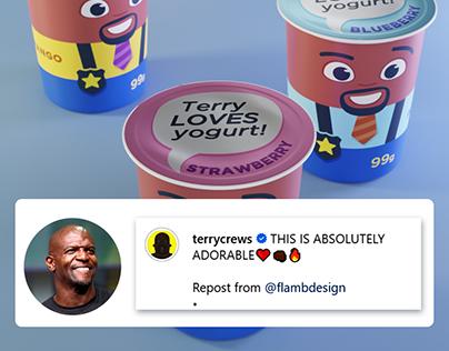 Terry LOVES yogurt!