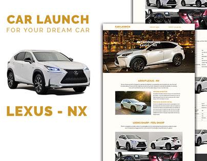 Car Launch - Landing page