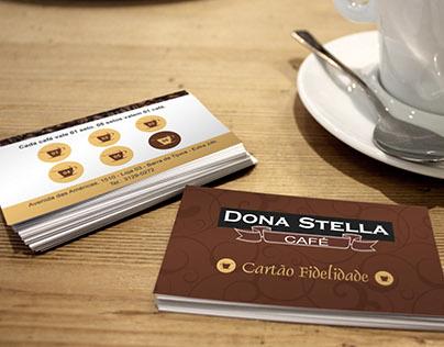 Criação Cartão de Visitas - Dona Stella Cafeteria