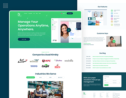 Nimbly Web Landing Page