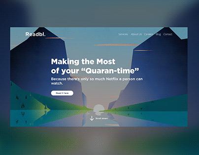 Readable Web Mockup