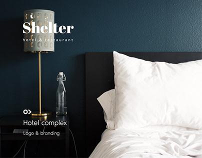 Shelter hotel & restaurant - logo design