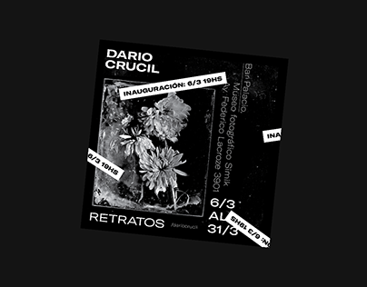 Poster for Dario Crucil's Exhibition