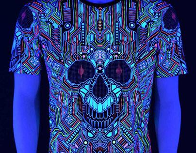 Psytrance Art Print T-Shirt (BOT)