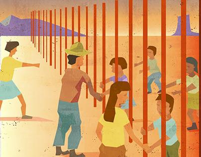 Border Wall Illustration