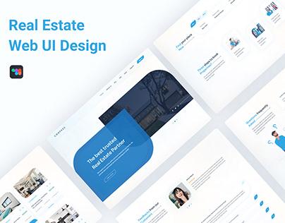 Real Estate Website UI Design