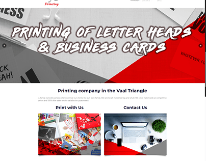 Website Project for MJC Printing