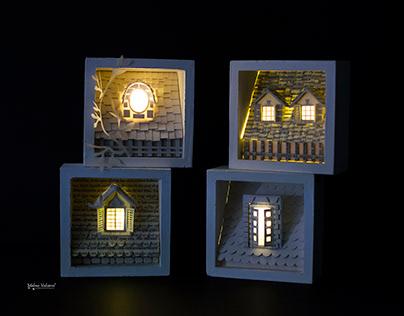 Architectural Facade Diorama - Paper Art