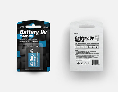 Battery 9v Mock-up
