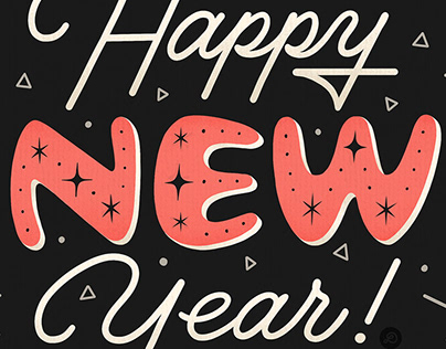 LETTERING / Happy New Year 2019