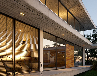 Concrete Lakeside Home