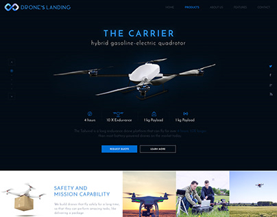 Drone Landing PSD Template