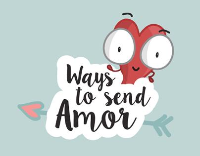 Formas de enviar amor / Ways to send Amor