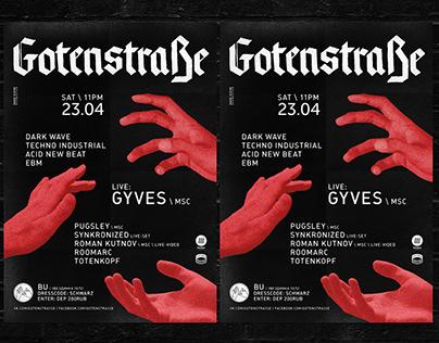Gotenstraße | Visual Identity for Techno Event