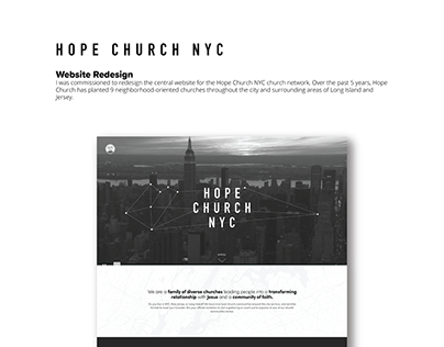 Web Design for Hope Church, NYC