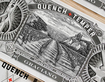 Quench & Temper Label Illustration by Steven Noble