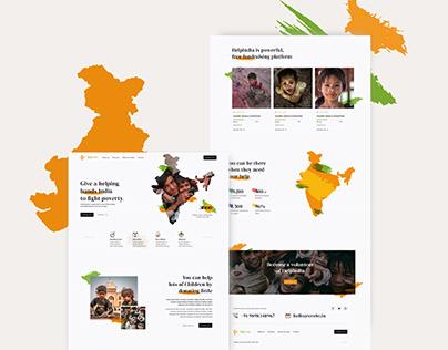 HelpIndia - Concept | NGO