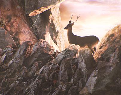 Deer in the cave