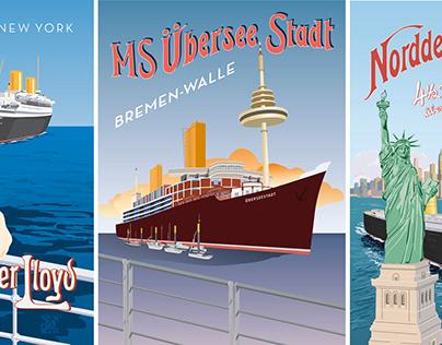 Vector Cruise Ships