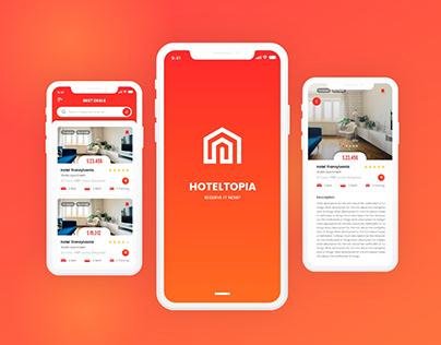 HotelTopia Free Adobe XD Mobile App UI Design