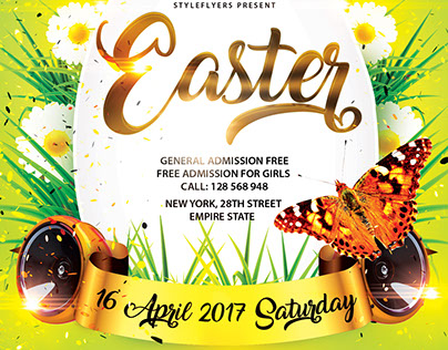 Easter FREE PSD Flyer Template