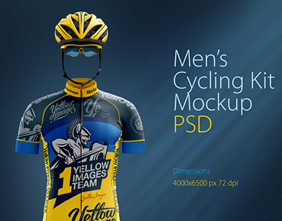 Men's Cycling Kit Mockup
