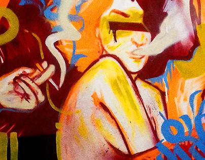 Somos Humanos ou Máquinas? - canvas painting