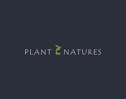 Logo for PLANT NATURES (modern Online shop)