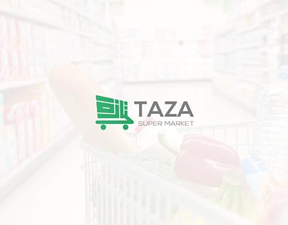 Taza Super Market || LOGO