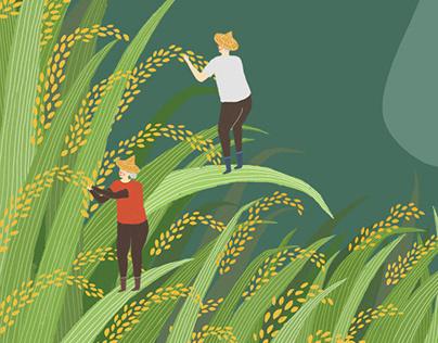 Textbook illustration | 國中課本插畫