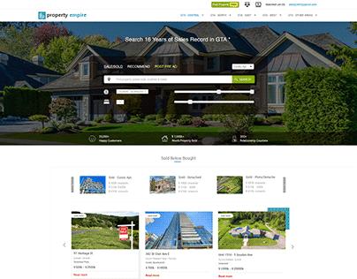 Website Template Design for Realty Portal