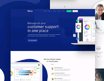 Rola Agency Landing Page